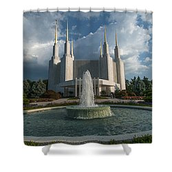 Lds Water Fountain  Shower Curtain