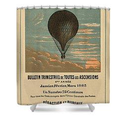 Le Balloon Journal Shower Curtain