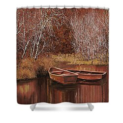 Le Barche Sullo Stagno Shower Curtain by Guido Borelli