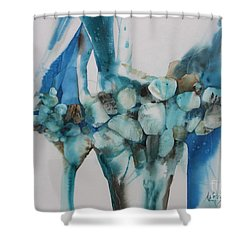 Le Barrage Shower Curtain by Donna Acheson-Juillet