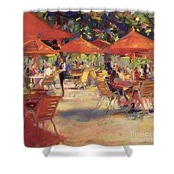 Le Cafe Du Jardin  Shower Curtain by Peter Graham