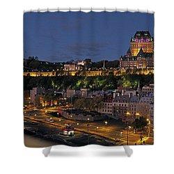 Le Chateau Frontenac  Shower Curtain