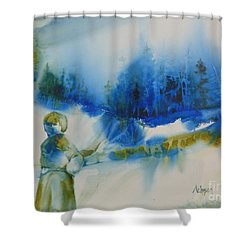 Le Chemin Shower Curtain by Donna Acheson-Juillet