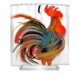 Le Coq Art Nouveau Rooster Shower Curtain by Mindy Sommers
