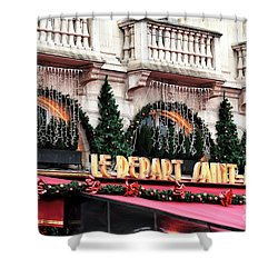 Le Depart Saint-michel Shower Curtain by John Rizzuto