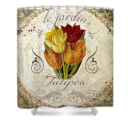 Le Jardin Tulipes Shower Curtain by Mindy Sommers
