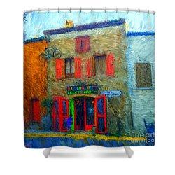 Le Lezard Restaurant Shower Curtain