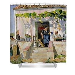 Le Mazet Shower Curtain by Armand Coussens
