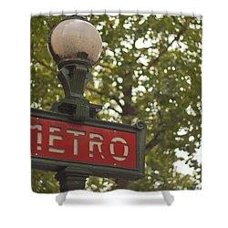 Le Metro Shower Curtain by Georgia Fowler