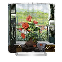 Le Persiane Sulla Valle Shower Curtain