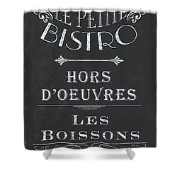 Shower Curtain featuring the painting Le Petite Bistro 1 by Debbie DeWitt