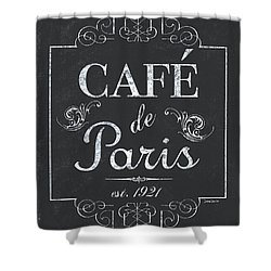 Shower Curtain featuring the painting Le Petite Bistro 3 by Debbie DeWitt