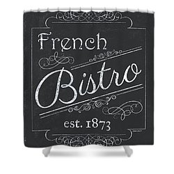 Shower Curtain featuring the painting Le Petite Bistro 4 by Debbie DeWitt