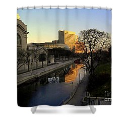 Shower Curtain featuring the photograph Le Rideau, by Elfriede Fulda