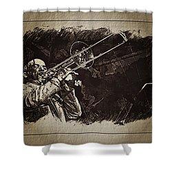 Le Roi Du Trombone  Shower Curtain