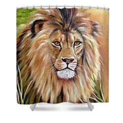 Le Roi-the King, Tribute To Cecil The Lion   Shower Curtain