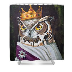 Le Royal Owl Shower Curtain by Nathan Rhoads
