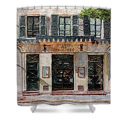 Shower Curtain featuring the painting Le Studio Des Ursulines by Joey Agbayani