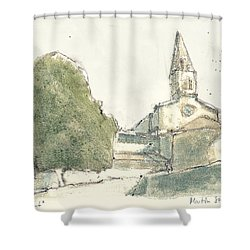 le Thoronet Shower Curtain