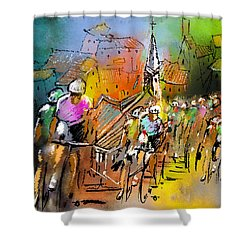 Le Tour De France 04 Shower Curtain by Miki De Goodaboom