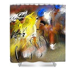 Le Tour De France 05 Shower Curtain by Miki De Goodaboom