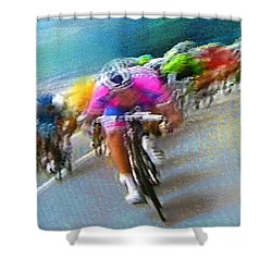 Le Tour De France 09 Shower Curtain by Miki De Goodaboom
