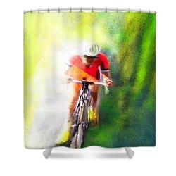 Le Tour De France 12 Shower Curtain by Miki De Goodaboom