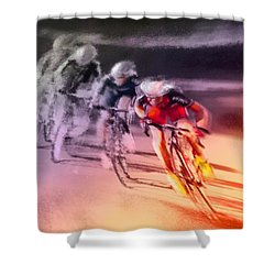 Le Tour De France 13 Shower Curtain by Miki De Goodaboom