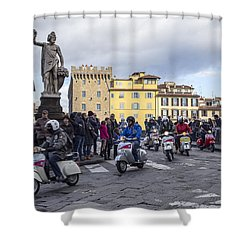 Vespe Di Firenze Shower Curtain