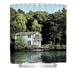Leacock Boathouse Shower Curtain
