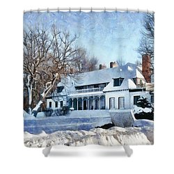 Leacock Museum In Winter Shower Curtain
