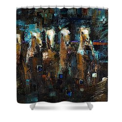 Lead Mares Shower Curtain by Frances Marino