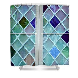 Leaded Glass Shower Curtain