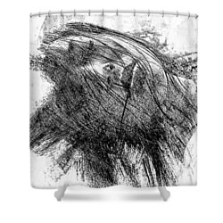 Leaden Slumber Shower Curtain