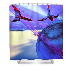 Leading Edge Shower Curtain by Corey Ford
