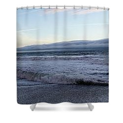 Leading Edge Shower Curtain by Michael Courtney