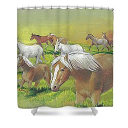 Leading The Bell Mare Shower Curtain