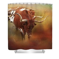 Shower Curtain featuring the photograph Leading The Herd by Toni Hopper