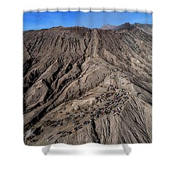 Leading To The Volcano Crater Shower Curtain