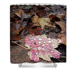 Leaf Bling Shower Curtain