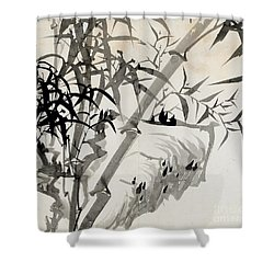 Leaf C Shower Curtain by Rang Tian