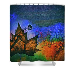 Shower Curtain featuring the photograph Leaf Dancer by James Bethanis