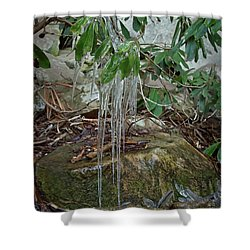 Leaf Drippings Shower Curtain