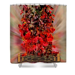 Leaf Explosion Shower Curtain by Ericamaxine Price