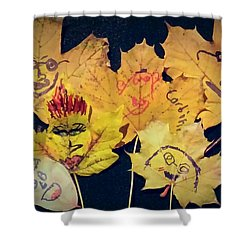 Leaf Family Shower Curtain by Jana E Provenzano