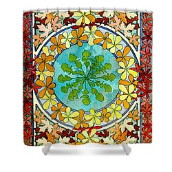 Leaf Motif 1901 Shower Curtain by Padre Art