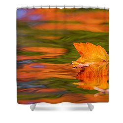 Leaf On Water Shower Curtain