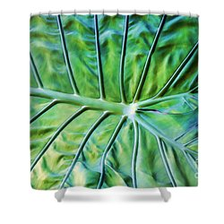Leaf Pattern Shower Curtain by Teresa Zieba