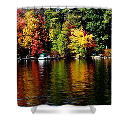 Leaf Peeping Shower Curtain