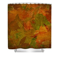 Leaf Texture And Background Shower Curtain